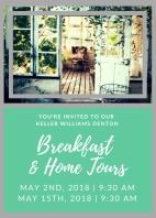 Breakfast home Tours flyer