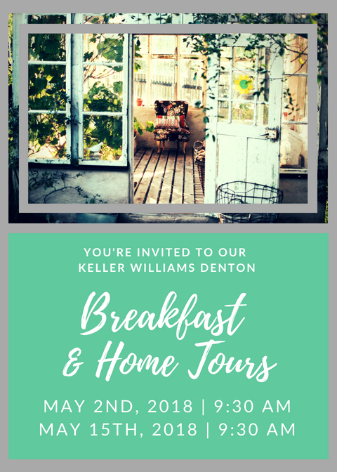 Breakfast home Tours flyer
